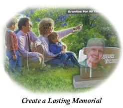 memorials, markers, head stones and monuments